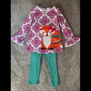 Emily Rose adorable fox outfit size 5